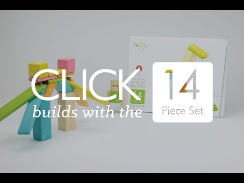 Click builds with the Tegu 14-Piece Set