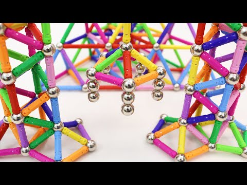 Building Pyramid and Towers with Veatree Magnetic Sticks and Balls