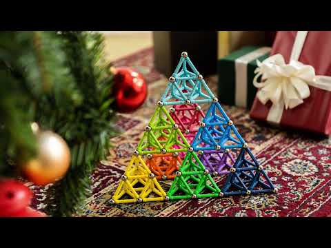 BANBBY Magnetic Building Toys - How To Build 10 colors Pyramid