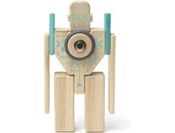 tegu magnetisches holzblock set future magbot